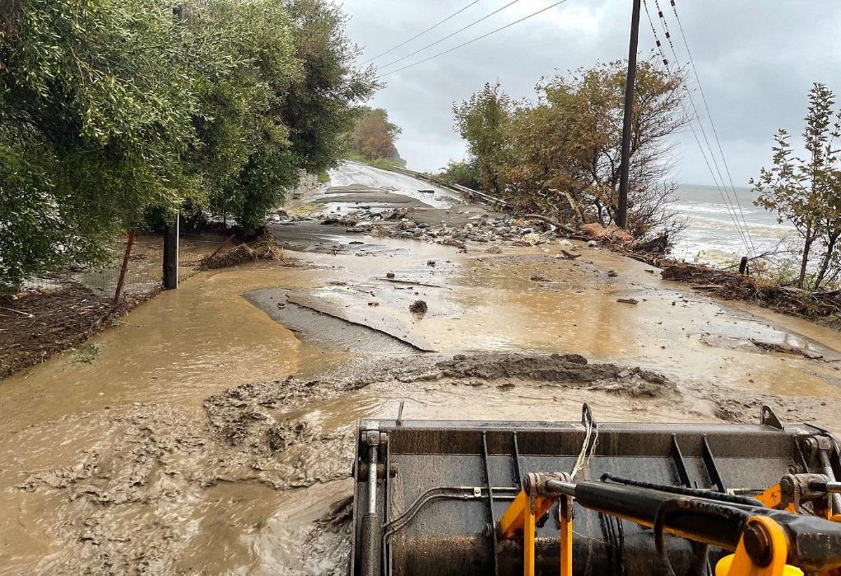Κακοκαιρία «Αθηνά» – Θεσσαλία: Μεγάλες ζημιές σε καλλιέργειες στη Μελιβοία