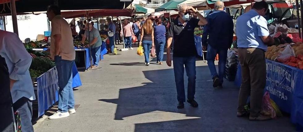 Πατέλες: Στην... λαϊκή αγορά η «πρεμιέρα» άρσης των μέτρων για Ηρακλειώτες και τουρίστες