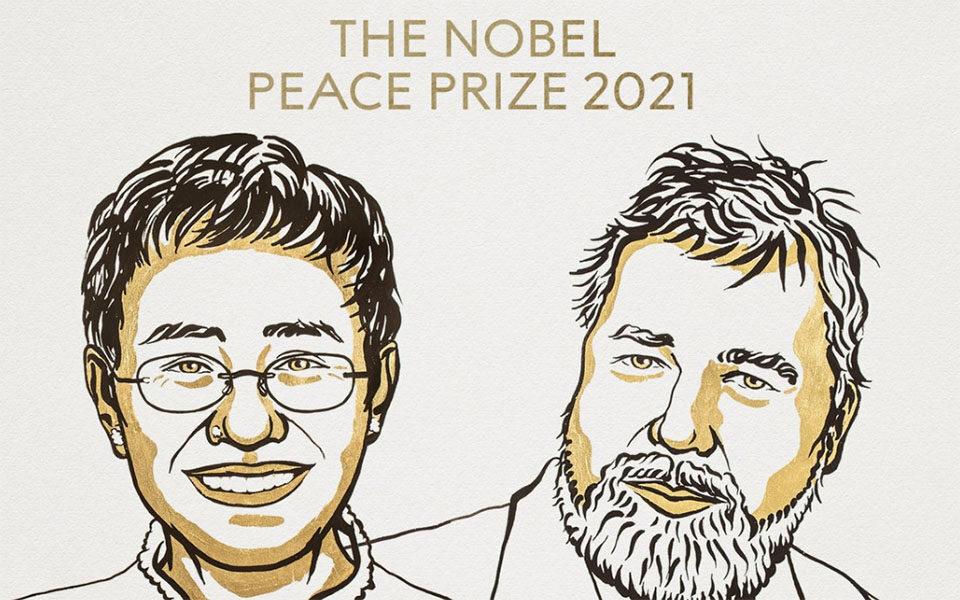 Νόμπελ Ειρήνης 2021 – Απονεμήθηκε σε δύο δημοσιογράφους