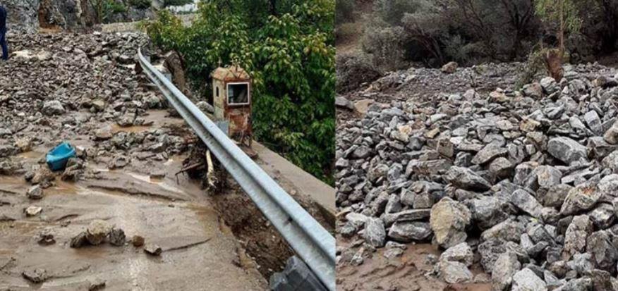 Κακοκαιρία «Μπάλλος» – Μεσαρά: Καταστροφές σε θερμοκήπια και δρόμους – Κεραυνός χτύπησε ζώα