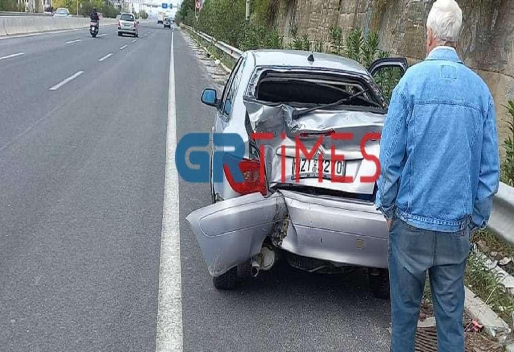 Θεσσαλονίκη: Τροχαίο με μηχανή που συγκρούστηκε με αυτοκίνητο και πήρε φωτιά
