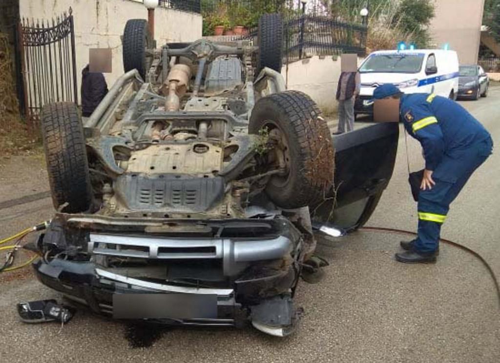 Τροχαίο – Σοκαριστικό ατύχημα στην Αβόρανη Αιτωλοακαρνανίας – Τούμπαρε αγροτικό, τραυματίστηκε σοβαρά γυναίκα